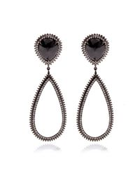 Eva Fehren | 18k Blackened White Gold and Diamond Drop Earrings | Lyst