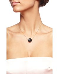 Gag & Lou | Black Onyx Rose Necklace with Diamond Insert Yellow Gold Chain | Lyst