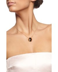 Gag & Lou | Metallic Tigers Eye Necklace with Diamond Insert On A Yellow Gold Chain | Lyst