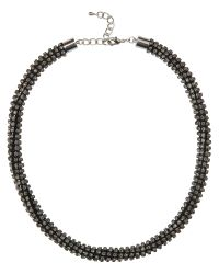 Jaeger | Gray Crystal Row Necklace | Lyst
