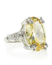 Judith Ripka | Yellow Canary Crystal Ring Size 7 | Lyst