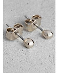 & Other Stories | Metallic Faceted Bead Stud Earrings | Lyst