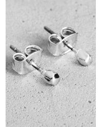 & Other Stories - Metallic Faceted Bead Stud Earrings - Lyst