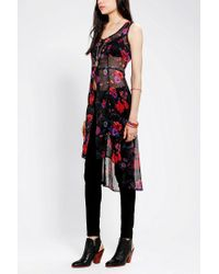 Urban Outfitters - Red Band Of Gypsies Chiffon Maxi Vest - Lyst