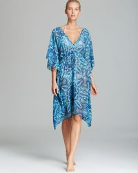 cadd86d0ba059 Lyst - Echo Mod Medallions Print Caftan Swim Cover Up in Blue