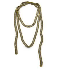 Eileen Fisher | Metallic Sequined Macrame Necklace | Lyst