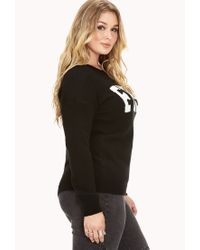Forever 21 - Black Plus Size Classic Fresh Sweater You've Been Added To The Waitlist - Lyst