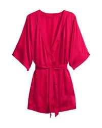 H&M   Red Kimono   Lyst