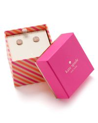 kate spade new york | Red Bright Spot Stud Earrings | Lyst