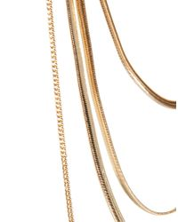 ASOS | Metallic Back Chain Necklace | Lyst