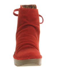 Fly London - Red Yama Wedge Ankle Boot - Lyst