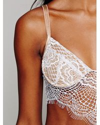 Free People - Natural Bat Your Eyelash Bra - Lyst