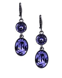 Givenchy - Blue Tanzanite Double Drop Earrings - Lyst