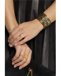 Iam By Ileana Makri - Metallic Beetle Goldplated Oxidized Brass Cuff - Lyst