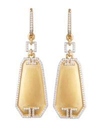 Ivanka Trump | Metallic Metropolis Small Octagon Diamond Earrings | Lyst