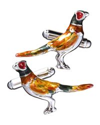 Jan Leslie | Multicolor Pheasant Sterling Silver Cuff Links for Men | Lyst