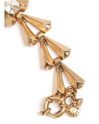 J.Crew - Metallic Crystal Chevron-link Bracelet - Lyst
