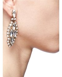 J.Crew - Metallic Crystal Icicle Earrings - Lyst