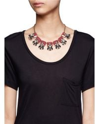 J.Crew | Metallic Crystal And Stone Row Necklace | Lyst