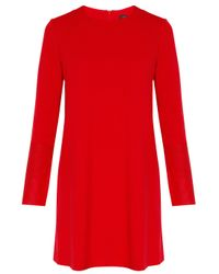 JOSEPH - Red Wool Ls Dress Wlthr Cuff - Lyst