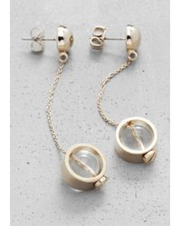 & Other Stories | Metallic Orb Pendant Earrings | Lyst