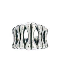 Peter Jensen - Metallic Reclaimed Vintage Bone Ring for Men - Lyst