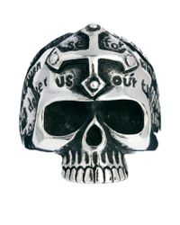 ASOS - Metallic Reclaimed Vintage Skull Cross Ring for Men - Lyst