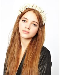Stella McCartney - White Rock N Rose Lilibeth Crown Headband - Lyst