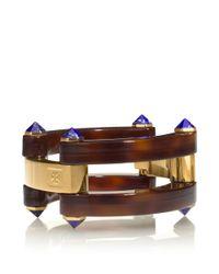 Tory Burch - Brown Grasset Stone Bracelet - Lyst
