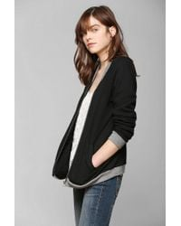 Urban Outfitters | Black Bycorpus Bomber Zip Up Sweatshirt | Lyst