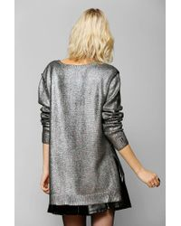 Urban Outfitters - Black Holographic Sweater - Lyst