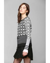 Urban Outfitters - Gray Shae Optic Texturedprint Sweater - Lyst