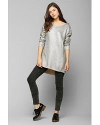 Urban Outfitters - Gray Silence Noise Holographic Sweater - Lyst