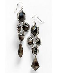 Alexis Bittar | Black Miss Havisham Pavo Chandelier Earrings | Lyst
