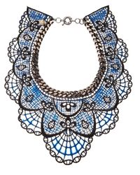 Annelise Michelson | Blue Silicon Lace Necklace | Lyst