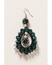 Anthropologie - Green Ear Emerald Hoop - Lyst