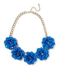 BaubleBar | Blue Jumbo Bloom Bib | Lyst