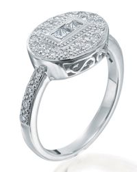 Charriol | Metallic Diamond Pave Oval Ring Size 7 | Lyst