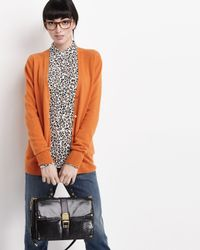 Rebecca Minkoff - Highline Lizardprint Satchel Bag Black - Lyst