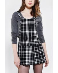 Urban Outfitters - Black Tripp Nyc Plaid Pleated Overall Skirt - Lyst