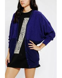 Urban Outfitters | Blue Sparkle Fade Colorblock Cardigan | Lyst