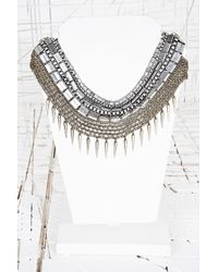 Urban Outfitters | Metallic Thick Chain Spike Collar Necklace | Lyst