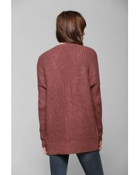 Urban Outfitters - Pink Pins and Needles Cozy Mixedstitch Dolman Cardigan - Lyst