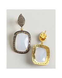 Amrapali | Blue Chalcedony and Diamond Drop Earrings | Lyst