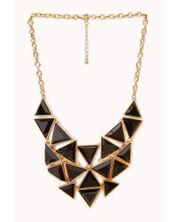 Forever 21 - Black Angular Bib Necklace - Lyst