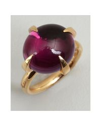 Pomellato - Pink Gold and Amethyst Oval Stone Estate Ring - Lyst