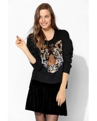Urban Outfitters | Black Sparkle Fade Sequin Tiger Sweater | Lyst