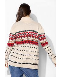 Urban Outfitters - Natural Love Madly Fair Isle Cardigan - Lyst
