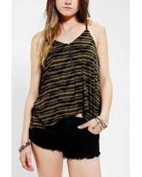 Urban Outfitters | Green Silence Noise Zip Cami | Lyst