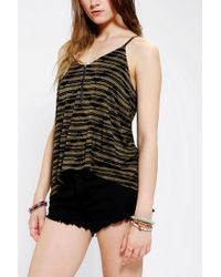 Urban Outfitters - Green Silence Noise Zip Cami - Lyst